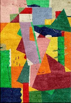 Valmier inspired handtufted rug