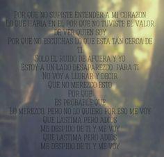 """""""Me Voy"""" by Julieta Venegas"""