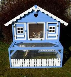 Adorable blue coop.