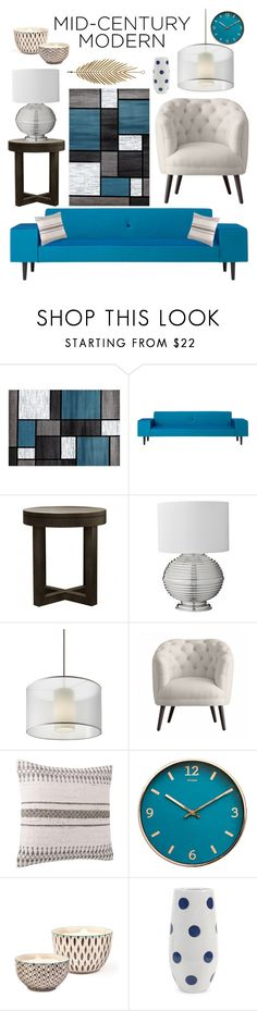 """""""Modern Living Room"""" by minja93 ❤ liked on Polyvore featuring interior, interiors, interior design, home, home decor, interior decorating, World Rug Gallery, Donna Wilson, XVL and Lene Bjerre"""