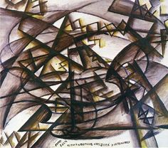 Rhythm + Noise + Speed of Car - Giacomo Balla - WikiPaintings.org