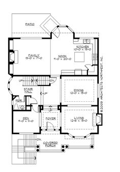 Main Floor Plan - Might be a little too deep, but maybe possible?