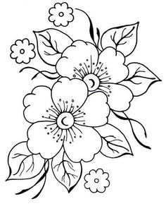 pergamano - Page 2 - Embroidery flower patterns – Imagui: - Embroidery Designs, Ribbon Embroidery, Embroidery Stitches, Machine Embroidery, Brush Embroidery, Colouring Pages, Coloring Books, Free Coloring, Coloring Sheets