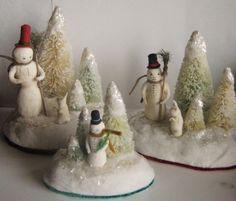 Sapins de Noël Dutch Bunny Spun Cotton ornament by maria pahls Christmas Time Is Here, Mini Christmas Tree, Merry Little Christmas, Christmas Snowman, White Christmas, Antique Christmas, Vintage Christmas Ornaments, Christmas Decorations, Cotton Crafts