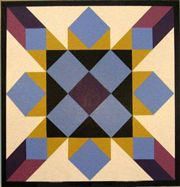 """Upstate Heritage Quilt Trail - Hearth and Home Magazine published the South Carolina Block in the early part of the 20th century. """"The colony of Carolina split into North and South Carolina in 1730. Hearth and Home named a block for South Carolina in their series of state patterns sent in by readers."""""""