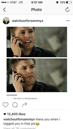 The facial expressions of Jensen Ackles are what I live for