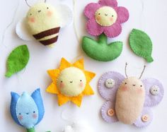 PDF pattern  Safari animals. Felt baby crib mobile ornaments.