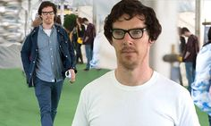 Benedict Cumberbatch blends into the crowds at Hay
