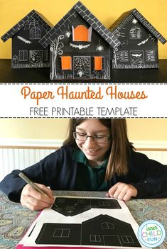 Halloween Art Projects, Halloween Arts And Crafts, Halloween Activities For Kids, Paper Crafts For Kids, Diy Halloween Decorations, Crafts For Teens, Diy For Kids, Holiday Activities, Halloween Class Party