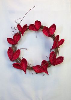 Rustic Valentine Heart Wreath by WestTwinCreationsLLC on Etsy, $32.50