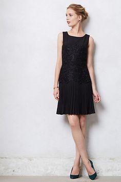 Pleated Dropwaist Dress #anthropologie