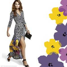 The #PopWrap Limited Edition Abigail Wrap Dress from the collaboration between DVF and the Andy Warhol Foundation