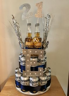 Corona Birthday Beer Cake - - Corona Birthday Beer Cake Boyfriend or girlfriend ❤️ Corona Geburtstag Bierkuchen Boyfriends 21st Birthday, Birthday Gifts For Boyfriend Diy, 21st Birthday Gifts For Guys, 25th Birthday Ideas For Him, Creative Birthday Gifts, Beer Birthday Party, Diy Birthday, Cake Birthday, Boy 16th Birthday