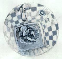 Illustratie bij een ver van Monica Zeevenhoven.