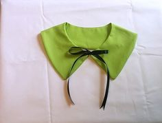 Lime Green Wednesday Addams Detachable Collar by GraveEndeavours