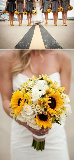 Shade Garden Flowers And Decor Ideas Rustic Wedding Ideas 21 Perfect Sunflower Wedding Bouquet Ideas To Love See More: Trendy Wedding, Summer Wedding, Rustic Wedding, Dream Wedding, Wedding Day, Wedding Yellow, Yellow Weddings, Diy Wedding, Wedding Quotes