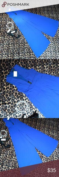 """Olivaceous""Cobalt Blue wide leg Jumpsuit Sz M Beautiful, Elegant and Sexy Cobalt Blue Wide Leg Jumpsuit Sz M. Has hole in the middle of the back!!! NWT Olivaceous Pants Jumpsuits & Rompers"