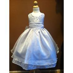 KD- -Organza W/ Double Layered Skirt Silver