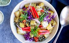 Roasted potato salads in general make a great side dish for all sorts of meals. This recipe brings this idea to the next level by adding some delicious Brazil nut Parmesan cheese.