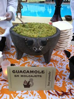 Besito Mexican (BesitoMexican) on Twitter Long Island Hospitality Ball 2013 Guacamole en Molcajete #BesitoMexican