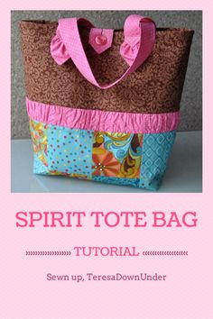 Spirit tote bag tutorial. Easy quick sewing project.