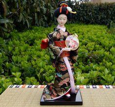 9''/24cm Japanese Traditional Maiko Geigi Kimomo geisha Doll Hinamatsuri -0918