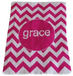 Chevron is the coolest design from Butterscotch Blankee. Hot pink is a show stopper for your baby girl! www.namelynewborns.com