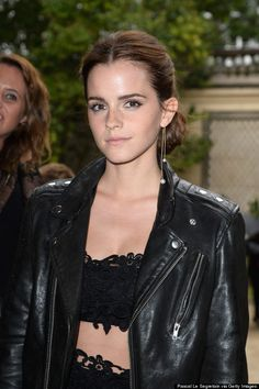 Emma Watson leather over couture style