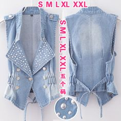 2013 spring and summer sleeveless plus size denim vests female women's slim vest outerwear jeans jacket $15.20