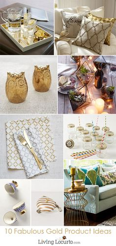 10 Beautiful Gold Accessories for Home or a Party!