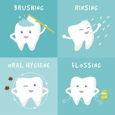 Poor oral hygiene invites plaque to accumulate around the base of your teeth and gum line, causing your gums to become red and inflamed. To prevent dental infection brush your teeth twice a day and floss at least once. Dental Facts, Dental Humor, Dental Hygiene, Oral Health, Dental Health, Health Tips, Health Care, Dental Posters, Dental Life