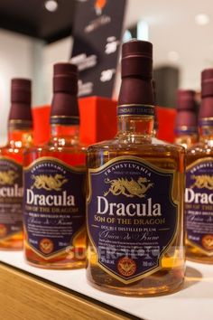 Dracula Son of the Dragon plum brandy. Product of Romania. Anyone know where to find this (other than in Romania lol)? Cocktail Drinks, Alcoholic Drinks, Beverages, Craft Cocktails, Alcohol Bottles, Liquor Bottles, Wine And Liquor, Brandy Liquor, Liquor Drinks