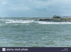 Download this stock image: Stormy weather at Trearddur Bay - GMG99G from Alamy's…