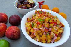 Nectarine and Plum Salsa