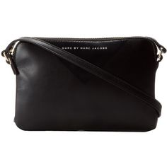 Marc by Marc Jacobs Miss Shapes Dani Crossbody ($198) ❤ liked on Polyvore featuring bags, handbags, shoulder bags, accessories, black, black shoulder handbags, purse crossbody, black crossbody purse, handbags shoulder bags and handbags & purses