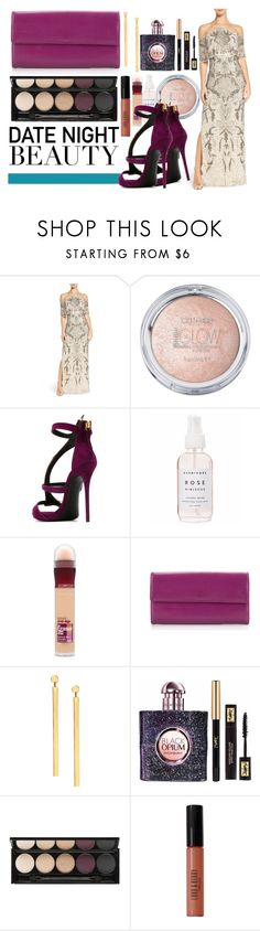 """Sin título #317"" by sassymermaid ❤ liked on Polyvore featuring Aidan Mattox, Giuseppe Zanotti, Holly's House, Maybelline, Louis Vuitton, Lana, Yves Saint Laurent, Witchery and Lord & Berry"