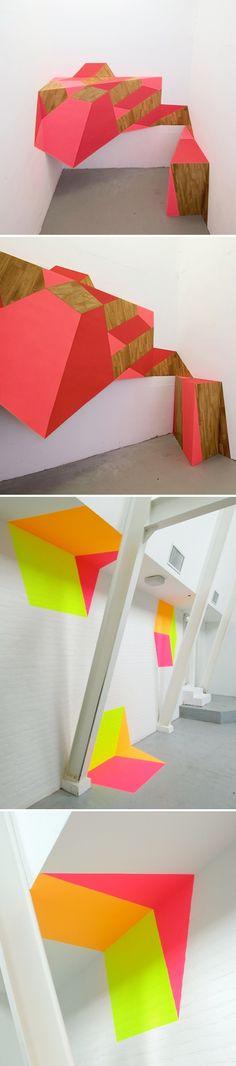 Installation work by Amsterdam-based artist Henriette van't Hoog