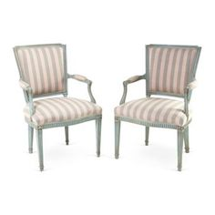Check out this item at One Kings Lane! Italian Painted Armchairs, Pair