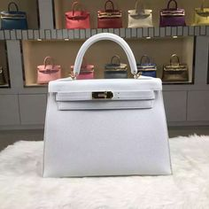 29bc434680c9 Brand  Hermes  Style  Kelly Bag28CM   Material  Epsom Calfskin Leather Color  · Hermes Kelly BagSilver ...