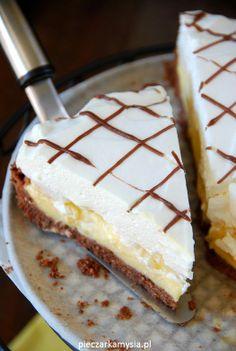 BEZ PIECZENIA Tarta z bananami i kremem budniowym Polish Desserts, Polish Recipes, No Bake Desserts, Slovak Recipes, Cake Recipes, Dessert Recipes, Sweets Cake, Biscuits, Ice Cream Recipes