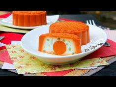 How to make Thai Tea Jelly Moon Cakes ขนมวุ้นไหว้พระจันทร์ รสชาไทย 泰茶凍月餅 - YouTube