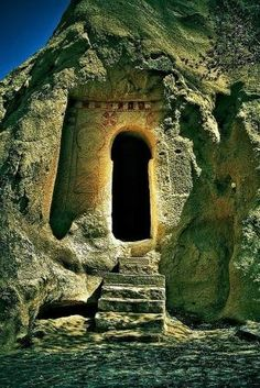 Ancient keyhole door, Turkey by Madeliefie
