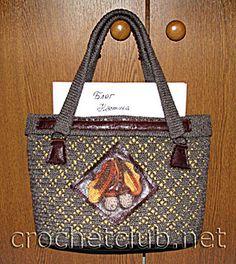 Вязаная сумочка «Осенняя рапсодия»