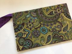 READY TO SHIP Olive Paisley Diaper Clutch by JerseyPeachDesigns, $35.00
