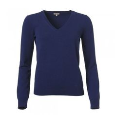 Navy Blue Cashmere V-Neck Jumper - Our fabulous collection of cashmere jumpers work really well with our jackets. The timeless navy blue fabric is cashmere. Features include our wolfhound logo in tonal threads on the bottom left hand side and a v-neck. Cashmere Jumper, Wolfhound, Donegal, Tweed Jacket, Blue Fabric, Jumpers, Knitwear, Hand Weaving, Women Wear