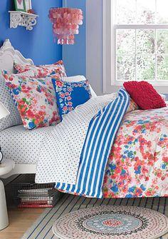Teen Vogue Rosie Posie - Online Only Teenage Girl Bedrooms, Girls Bedroom, Bedroom Decor, Girl Rooms, Bedroom Themes, Bedroom Designs, Full Comforter Sets, Bedding Sets, Teen Vogue Bedding