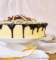 Cubes N Juliennes: DARK CHOCOLATE COFFEE CAKE WITH PASSION FRUIT – ORANGE BAVARIAN CREAM