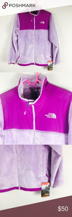 Purple NWT North Face Full Zip Up Beautiful purple North Face fleece jacket. Brand new with tags! Girls XL. I ship same day, extra discount given if you ask! The North Face Jackets & Coats