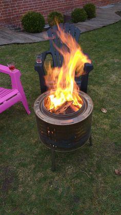 Feuertonne aus Waschmaschinentrommel DIY