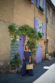 8.15 provence market (LOFT 'french hen' maxi dress + vintage belt + K Jacques sandals + Chloe crossbody bag + Illesteva sunnies)